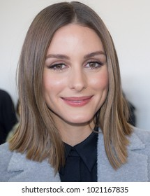 New York, NY, USA - February 8, 2018: Model Olivia Palermo attends the front row for Noon by Noor Fall/Winter 2018 during New York Fashion Week at Spring Studios, Manhattan