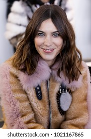New York, NY, USA - February 8, 2018:  Alexa Chung attends the front row for Noon by Noor during New York Fashion Week at Spring Studios, Manhattan