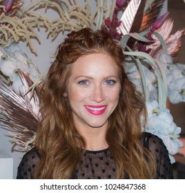 New York, NY, USA - February 10, 2018: Actress Brittany Snow attends alice McCall Fall/Winter 2018 runway show during New York Fashion Wweek at Industria, Manhattan