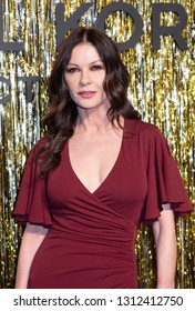 New York, NY, USA - February 13, 2019: Catherine Zeta-Jones attends the Michael Kors Collection Fall 2019 Runway Show during New York Fashion Week at Cipriani Wall Street, Manhattan