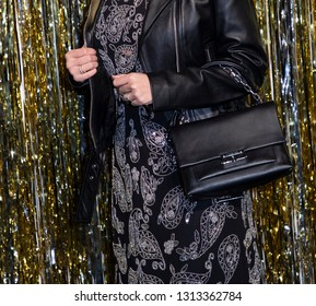 New York, NY, USA - February 13, 2019: Siti Saleha attends the Michael Kors Collection Fall 2019 Runway Show during New York Fashion Week at Cipriani Wall Street, Manhattan