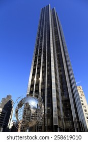 New York, NY, USA - February 18, 2013: Trump International Hotel and Tower: It is a high-rise building, located at 1 Central Park West on Columbus Circle in Manhattan, New York City.