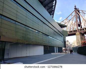 New York, NY / USA - January 1 2019: Bloomberg Center, Cornell Tech Campus on Roosevelt Island
