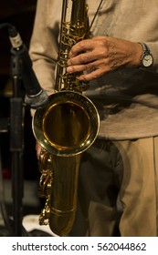 New York, NY USA - January 5, 2017: Benny Golson performs during Jazz legends for disability pride concert as part of New York Winter Jazz festival at Quaker Hall