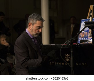 New York, NY USA - January 5, 2017: Mike LeDonne performs during Jazz legends for disability pride concert as part of New York Winter Jazz festival at Quaker Hall