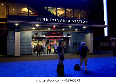 New York, NY, USA - July 11: PENNSYLVANIA STATION: Pennsylvania Station, also known as New York Penn Station or Penn Station, is the main intercity railroad station in New York City.