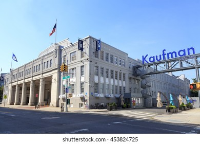 New York, NY, USA - July 12, 2016:  Kaufman Astoria Studios: The Kaufman Astoria Studios is a historic movie studio located in the Astoria section of the New York City borough of Queens