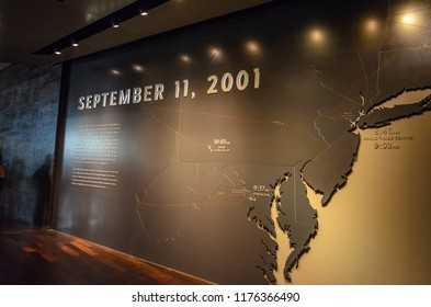 New York, NY, USA - June, 2016: Interior of the 9/11 National Memorial Museum in New York City - United States of America.