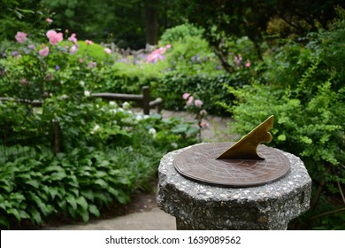 New York, NY, USA - June 5, 2019: Beautiful Shakespeare Garden in Central Park located in Manhatten