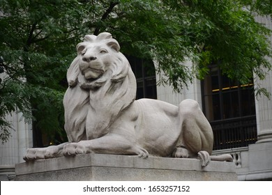 New York, NY, USA - June 23, 2019: New York Public Library - Stephen A. Schwarzman in Manhattan