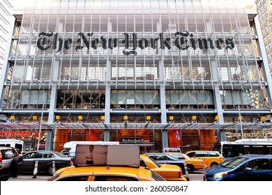 New York, NY, USA - June 7, 2014: Headquarters of The New York Times
