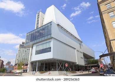 New York, NY, USA - June 10, 2015: The Whitney museum of American art: The museum is focus on 20th- and 21st-century American art. The new building opened on May 1, 2015.