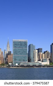 New, York, NY, USA - June 24, 2015 - United Nations Headquarters in New York City