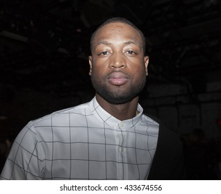 New York, NY USA - June 7, 2016: Dwyane Wade attends PUBLIC SCHOOL Spring 2017 Fashion Show by Dao-Yi Chow & Maxwell Osborne at Cedar Lake