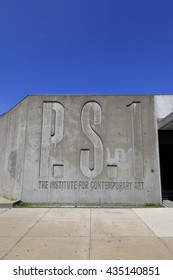 New York, NY, USA - June 7, 2016: View of the exterior of the P.S.1 in Queens: MoMA PS1 is one of the largest art institutions in the United States dedicated solely to contemporary art.