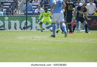New York, NY USA - June 18, 2016: Frank Lampard (8) of NYC FC (not pictured) scores goal during MLS game against Philadelphia Union on Yankee Stadium NYC FC won 3 - 2