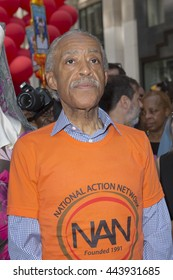 New York, NY USA - June 26, 2016: Rev. Al Sharpton marches at 46th annual Pride parade to celebrate gay, lesbian and transgender community in New York city