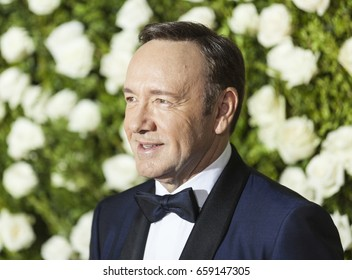 New York, NY USA - June 11, 2017: Kevin Spacey in Isaia attends Tony awards 2017 at Radio City Music Hall