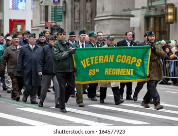NEW YORK, NY, USA - MAR 16:  People at the St. Patrick's Day Parade on March 16, 2013 in New York City, United States.