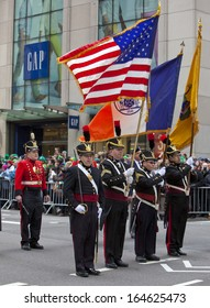 NEW YORK, NY, USA - MAR 16:  Military at the St. Patrick's Day Parade on March 16, 2013 in New York City, United States.