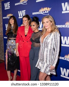 New York, NY, USA - March 13, 2019: Carol Alt, Kelly Bensimon, Rachel Lindsay and Sonja Morgan attend WEtv's premiere fashion event celebrating the return of 'Bridezillas at Angel Orensanz Foundation