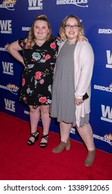 New York, NY, USA - March 13, 2019: Alana 'Honey Boo Boo' Thompson and Lauryn 'Pumpkin' Shannon attend WEtv's premiere fashion event celebrating the return of 'Bridezillas at Angel Orensanz Foundation