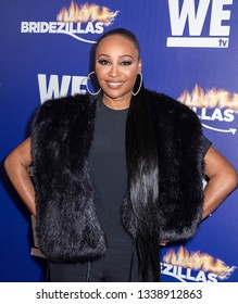 New York, NY, USA - March 13, 2019: Cynthia Bailey attends WEtv's premiere fashion event celebrating the return of 'Bridezillas at Angel Orensanz Foundation, Manhattan