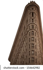 NEW YORK, NY, USA - MARCH 3: Flat Iron building, built in 1902 is of the first skyscrapers ever built, taken on May 6, 2012 in New York City, United States.