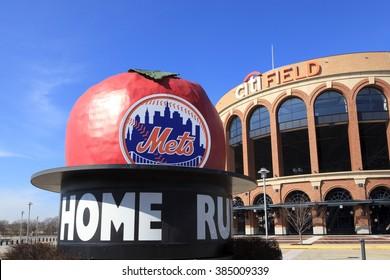 New York, NY, USA - March 1, 2016: Citi Field : Home of major league baseball team the New York Mets.