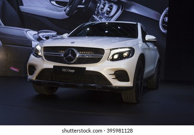 New York, NY USA - March 23, 2016: Mercedes GLC Coupe 2017 car unveiled at New York International Auto Show at Jacob Javits Center