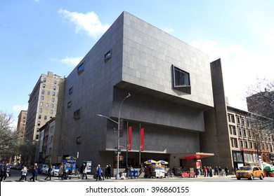 New York, NY, USA - March 26, 2016: The Met Breuer: The Met Breuer is a museum of modern and contemporary art. The museum opened in March 2016 in the building formerly occupied by the Whitney Museum.