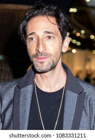New York, NY, USA - May 3, 2018: Actor Adrien Brody attends Art New York at Pier 94, Manhattan