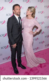 New York, NY, USA - May 15, 2019: Andrew Shue and Amy Robach attend the Breast Cancer Research Foundation 2019 Hot Pink Party at Park Avenue Armory, Manhattan