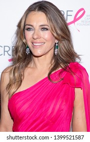New York, NY, USA - May 15, 2019: Elizabeth Hurley attends the Breast Cancer Research Foundation 2019 Hot Pink Party at Park Avenue Armory, Manhattan