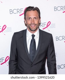 New York, NY, USA - May 15, 2019: Andrew Shue attends the Breast Cancer Research Foundation 2019 Hot Pink Party at Park Avenue Armory, Manhattan