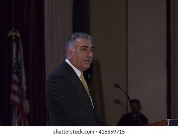 New York, NY USA - May 5, 2016: Crown Prince of Iran Reza Pahlavi attends 4th annual champions of Jewish values international awards gala at Marriott Marquis Times Square