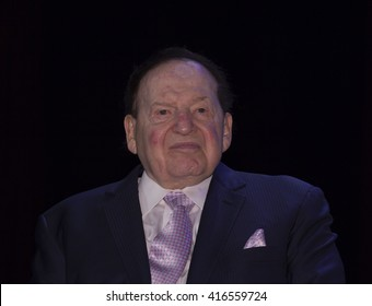 New York, NY USA - May 5, 2016: Sheldon Adelson attends 4th annual champions of Jewish values international awards gala at Marriott Marquis Times Square