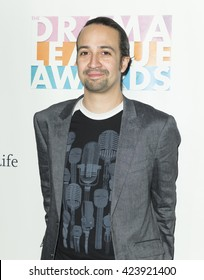 New York, NY USA - May 20, 2016: Lin-Manuel Miranda attends 82nd Drama League awards at Marriott Marquis Times Square
