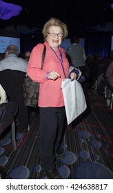 New York, NY USA - May 22, 2016: Dr. Ruth Westheimer attends Jerusalem Post COnference 2016 at Marriott Marquis Times Square