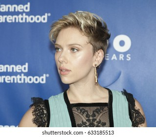 New York, NY USA - May 2, 2017: Scarlett Johansson attends the Planned Parenthood 100th Anniversary Gala at Pier 36