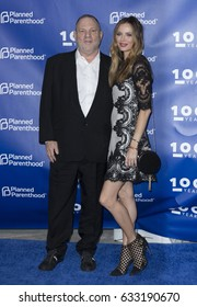 New York, NY USA - May 2, 2017:Harvey Weinstein & designer Georgina Chapman attends the Planned Parenthood 100th Anniversary Gala at Pier 36