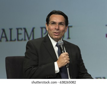 New York, NY USA - May 7, 2017: Israel Ambassador to the UN Danny Danon speaks at 6th Annual Jerusalem Post conference in New York