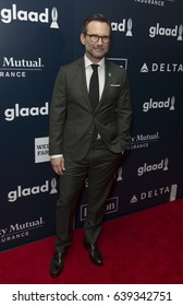 New York, NY USA - May 6, 2017: Christian Slater attends 28th Annual GLAAD media awards at Hilton Midtown hotel in New York