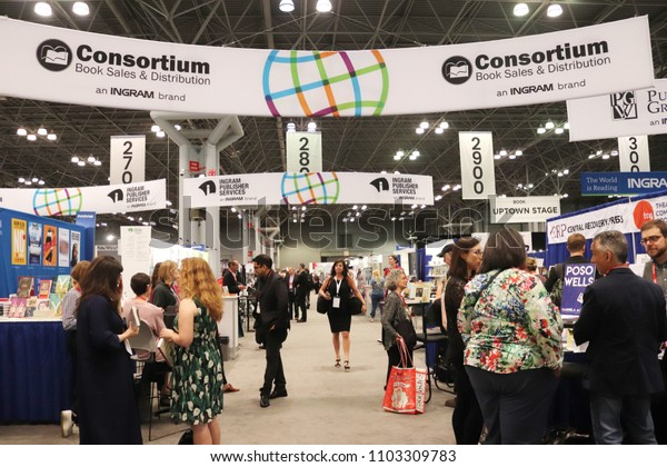 New York, NY / USA; May 31, 2018; BookExpo 2018 in the Javits Convention Center in New York City. The North American publishing event featuring the latest in print and digital book publishing.