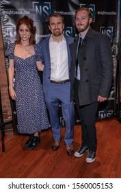 "New York, NY, USA - November 13, 2019: Mary Elaine Ramsey, Andrew Lyman-Clarke, Kyle DeSpiegler attend ""Night Sweats"" New York Premiere screening at Tribeca Screening Room, Manhattan;"