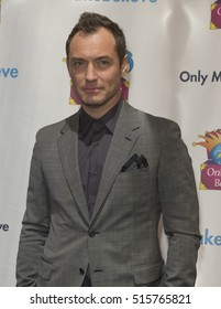 New York, NY USA - November 14, 2016: Jude Law an honoree attends Only Make Believe Gala MAKE BELIEVE ON BROADWAY at St. James Theater in New York