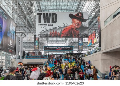 New York, NY, USA - October 4, 2018: General atmosphere on convention floor during Comic Con 2018 at The Jacob K. Javits Convention Center in New York City.