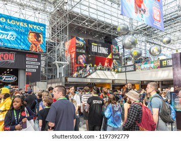 New York, NY, USA - October 5, 2018: General atmosphere on convention floor during Comic Con 2018 at The Jacob K. Javits Convention Center in New York City.