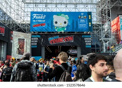 New York, NY, USA - October 4, 2019: General atmosphere on convention floor during Comic Con 2019 at The Jacob K. Javits Convention Center in New York City.