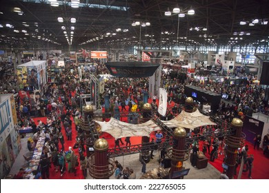 New York, NY, USA - October 10 2014: General atmothfere on convention floor during Comic Con 2014 at The Jacob K. Javits Convention Center in New York City